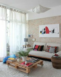 europalette möbel tisch aus europaletten wohnzimmer gestalten, Wohnzimmer