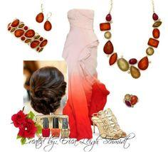 """Poppy"" necklace, earrings, bracelet, and ring."