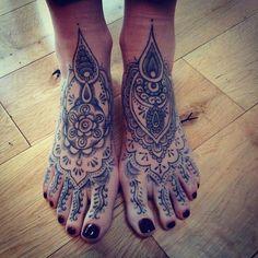 henna inspired tattoo feet - Szukaj w Google