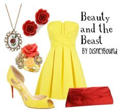 Beauty And the Beast Belle outfit! Disneybound Outfits, Disney Outfits, Cute Outfits, Disney Clothes, Disney Dresses, Belle Disneybound, Movie Outfits, Summer Outfits, Belle Outfit