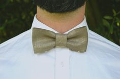 Bow Tie The Star // velvet sequined leather taupe // by CouDunSoir