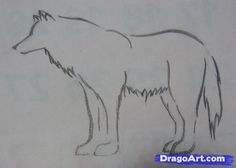 how to draw a simple tribal wolf step 4