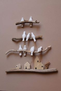 Lucky Birds Wall Ornament – # Birds # Lucky # Ornament – Everything in Clay Birds, Ceramic Birds, Ceramic Art, Diy Clay, Clay Crafts, Diy And Crafts, Pinterest Wall Decor, Deco Nature, Branch Decor