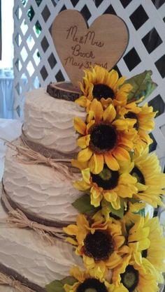 Sunflower and cake topper
