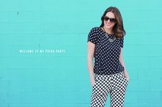 What I Wore: Polka Party, Jessica Quirk, @Jessica Quirk, Polka Dots