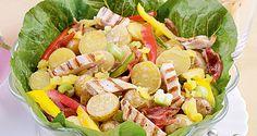 Chicken potato salad del monte philippines recipes to cook c Chicken Potato Salad, Potato Salad Dill, Potato Salad With Egg, Healthy Chicken Recipes, Cooking Recipes, Tortellini Salad, Sausage Casserole, Image Healthy Food, Cooking Ingredients