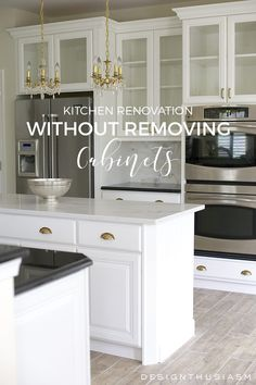 Refacing Kitchen Cabinets, Cabinet Refacing, Painting Kitchen Cabinets, Cabinet Ideas, Beautiful Kitchens, Cool Kitchens, Kitchen Furniture, Kitchen Decor, Kitchen Ideas