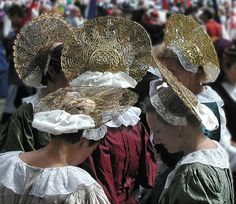 "The ""Bodensee-Radhaube"", a wheel-shaped bonnet, is unique due to its ornaments, which are made of gold and silver thread of equal quality on either side. The bonnet is typically worn in combination with traditional (Austrian) dress (""Tracht"") on festive occasions such as dance performances or festivals."