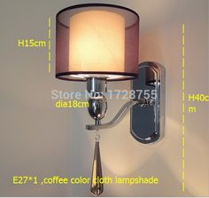 (62.69$)  Buy here - http://ai82y.worlditems.win/all/product.php?id=32302627325 - 2015 HOT Contemporary coffee color cloth wall lamp /bedroom cloth lampshade  corridor lamps and lanterns H40cm Dia18cm E27*1