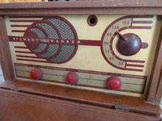 Stewart-Warner tube radio from the 1940s.