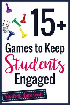 Math Games to Keep Students Engaged I love these math games for middle and high school students! They are great for small groups or whole class activities. It's so nice to be able to find free teaching ideas like these. Classroom Games High School, Middle School Activities, Class Activities, High School Students, School Fun, Math Classroom, Games For School, Math Middle School, Classroom Ideas