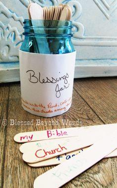 Create a Blessings Jar by using @Popsicle sticks. #Sponsored #PopsicleMom #Thanksgiving