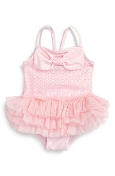 Little Me Glitzy Skirted One-Piece Swimsuit (Baby Girls) available at #Nordstrom
