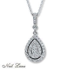 Neil Lane Necklace 1/2 ct tw Diamonds 14K White Gold