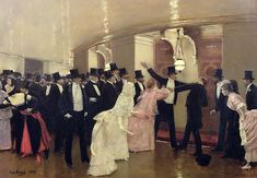Jean Beraud. An Argument In The Corridors Of The Opera, 1889.