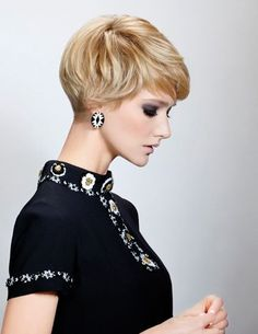 Side View Cute Short Pixie Cut