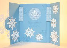 Elaine's Creations: Snowflake Christmas Peek a boo Shutter Card