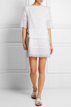 MiH Jeans | The Niobi broderie anglaise cotton mini dress | NET-A-PORTER.COM
