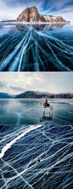 Lake Baikal southern Siberia in winter.