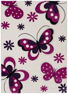 Alfombra Kinder Mariposas - Alfombra infantil con bonitos dibujos que haran la delicia de los mas peques de la casa.Composición:...