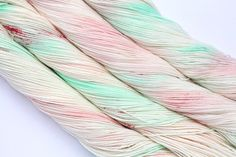 Stitch Mischief - Hand dyed yarn, project bags and all the colors! Hand Dyed Yarn, Cotton Candy, Swirls, All The Colors, Merino Wool, Delicate, Mint, Warm, Stitch