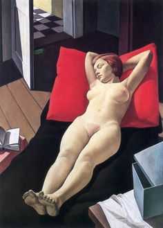 Pándy, Lajos - Reclining Nude - Art Deco - Nude - Oil on canvas Figure Painting, Figure Drawing, Life Drawing, Contemporary History, National Gallery, Digital Museum, Cultural, Illustrations, Erotic Art