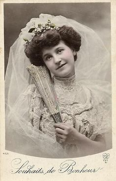 beautiful Victorian bride
