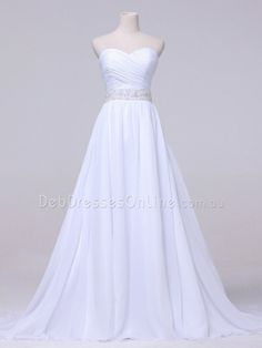 A-line Sweetheart Neckline Ruching Chiffon Deb Dress W853D - Front