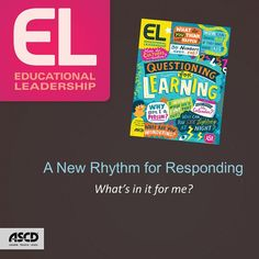 "ASCD author Jackie Acree Walsh explains the benefits of wait time (also known as think time) as described in her September 2015 Educational Leadership (EL) article, ""A New Rhythm for Responding,"" which she coauthored with Beth Dankert Sattes."