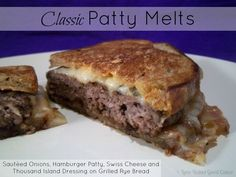 Love Bakes Good Cakes: Classic Patty Melts
