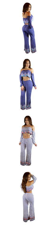 Female Elegant Two 2 Piece Set Women Suits Long Pants Cropped Top Sweat Track Suits Woman Clothing Set 2016 Womens Tracksuit Set