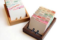 rolodex as a guestbook