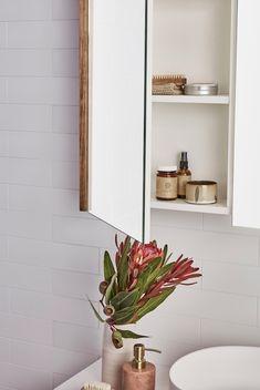 Loughlin Furniture : home Bathroom Colors, Colorful Bathroom, Shaving Cabinet, Meditation Space, Mirror Cabinets, Australian Homes, Bathroom Interior, Bathroom Medicine Cabinet, Wicker