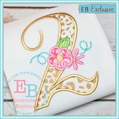 Excited to share this item from my shop: Girls Floral Monogram Birthday Shirt or Bodysuit, Birth Numbers Available, Applique Shirt, Cake Smash, Birthday Pics Diy Embroidery Designs, Embroidery Boutique, Applique Designs, Baby Applique, Applique Monogram, Machine Embroidery Applique, Brazilian Embroidery Stitches, Custom Birthday Shirts, Embroidery Alphabet