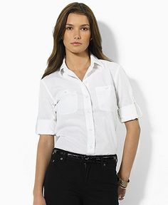 Macy's  Lauren Jeans Co. Shirt, Carter Roll Sleeve  70 USD
