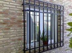 24 Ideas exterior window frame balconies for 2019 Iron Window Grill, Window Grill Design Modern, Balcony Grill Design, Grill Door Design, Window Design, Exterior Siding Options, Exterior Stairs, Cafe Exterior, Iron Windows