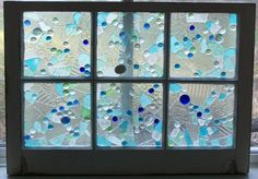 BEACH GLASS MOSAIC glass art by TinaCalberry on Etsy, $310.00