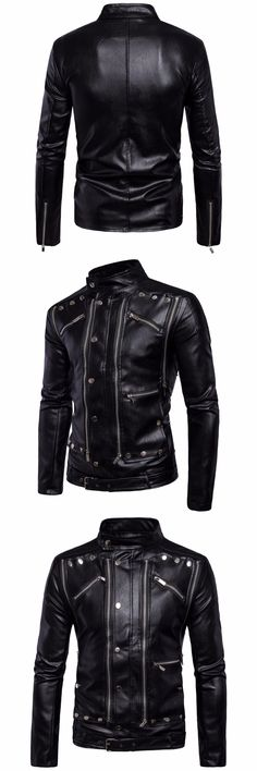 Fashion Leather Biker Jackets Men Coats Slim Motorcycle Bomber Jacket Men's Leather Jackets And Coats Masculina High Quality