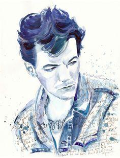 "Louis Tomlinson and ""Over Again"" lyrics Art Print"