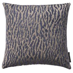 Gautier Animal Weave Indigo Square Cushion