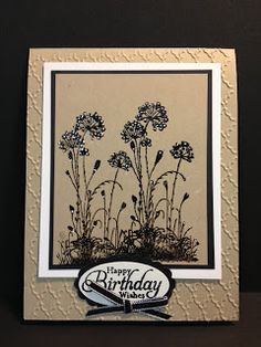I received this card in the mail from my new friend Gloria.  It's such a lovely card and she did a fabulous job on the embossing. I was ...