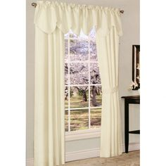 Thermal Rio Ivory Rod Pocket Curtain Panel Pair, or Scoop M Valance Blackout Curtains, Panel Curtains, Valance, Rod Pocket, Rio, Ivory, Windows, Home Decor, Decoration Home