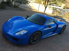 a 1 of 1 porsche 918 spyder in voodoo blue has been listed for sale on - Porsche 918 Spyder Blue Flame