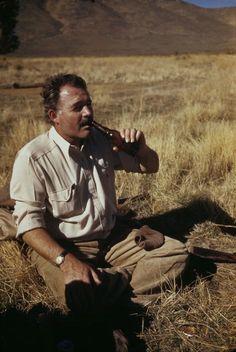 Ernest Hemingway — Sun Valley, Idaho; 1941.