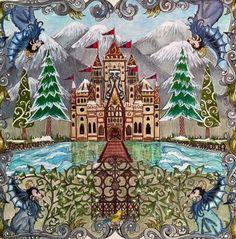 Castle Gate Enchanted Forest. Castelo Portão Floresta Encantada. Johanna Basford