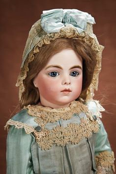 Beautiful French Bisque Bebe by Leon Casimir Bru. http://Theriaults.com