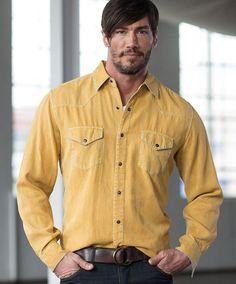 Men's Ryan Michael Aztec Silk Jacquard Shirt at Maverick Western Wear