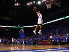 Dallas Mavericks v Oklahoma City Thunder - Game Four, Oklahoma City, OK - MAY 23: Russell Westbrook Photographic Print