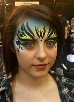 Queen A nu-RA stencil #FacePainting
