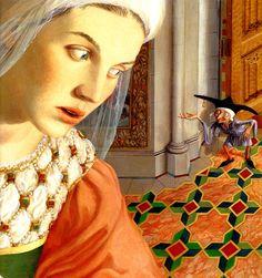 Rumpelstiltskin - Paul O. Zelinsky by Rachel's Rapunzel, Rumpelstiltskin, Brothers Grimm, Fairytale Art, Children's Book Illustration, Book Illustrations, Nursery Rhymes, Faeries, Storytelling